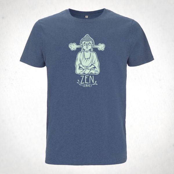 Zen(ervé)-tshirt-Homme-bleu